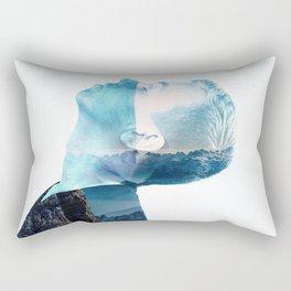 double exposure Face Rectangular Pillow
