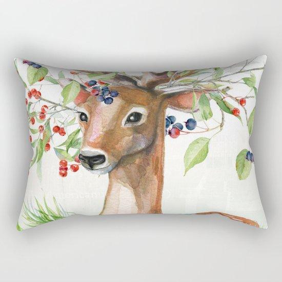 Winter animal #4 Rectangular Pillow