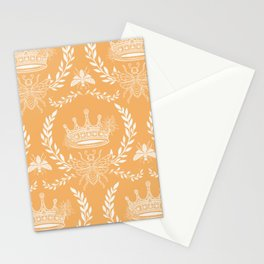 Queen Bee - Royal Crown in Honey Orange Stationery Cards