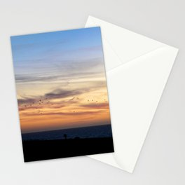 Flock in Half Moon Bay Stationery Cards