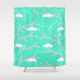 Branches in blue Shower Curtain