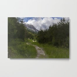 Hiking path lost in the mountains Metal Print