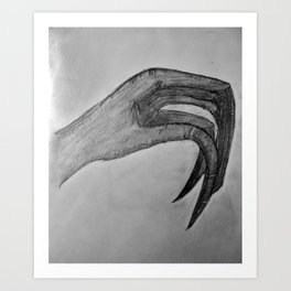 Human Talons Art Print