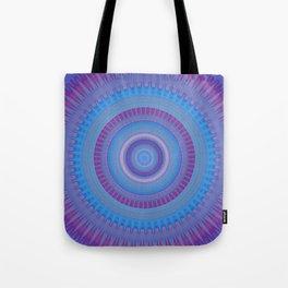 Electric Purple Blue Mandala Tote Bag