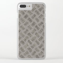 Steel plate for walking on safely. Clear iPhone Case