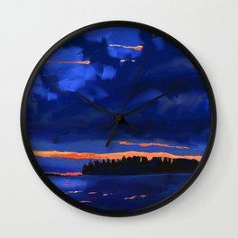 Night River Wall Clock
