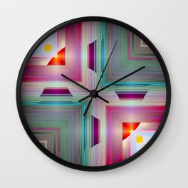 candy squares b Wall Clock