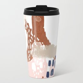 Skadi - metallic painting abstract minimal nursery home decor dorm college art Travel Mug