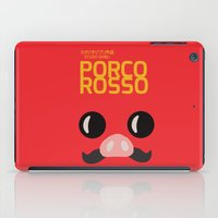 miyazaki iPad Cases featuring Porco Rosso - Miyazaki - Alternative Cartoon Poster by Stefanoreves