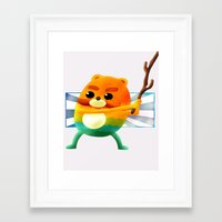 catbug Framed Art Prints featuring never runs out of gas by Jon Holloway