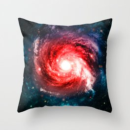 Spiral Galaxy Throw Pillow