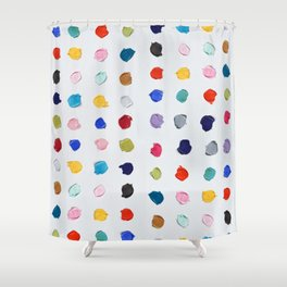 Polka Daubs Shower Curtain