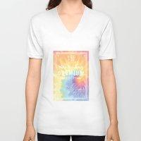 tie dye V-neck T-shirts featuring tie dye by ulas okuyucu