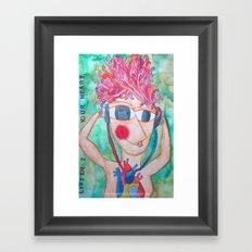 Listen 2 your heart Framed Art Print