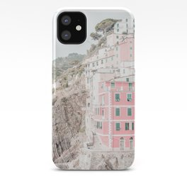 Positano, Italy Pink Travel Photography in hd iPhone Case