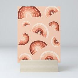 Terracota Rainbow In Peach Pattern 1 Mini Art Print