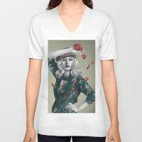 revolution V-neck T-shirts featuring Revolution by Shusei Mochizuki