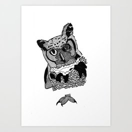 OWL EYES Art Print