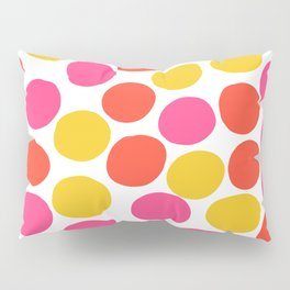 Bunte Punkte 003 / Mid-Century Modern Pattern Of Red, Pink & Yellow Dots Pillow Sham