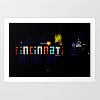cincinnati Art Prints featuring Funky Cincinnati  by Sandiest Photography