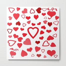 Hearts a'Plenty Metal Print