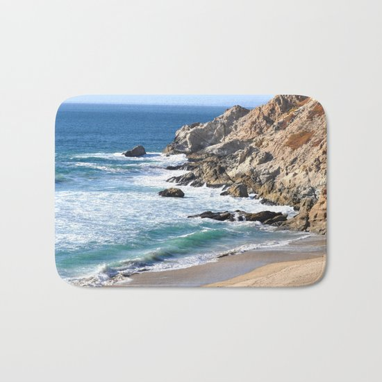 CALIFORNIA COAST - BLUE OCEAN Bath Mat