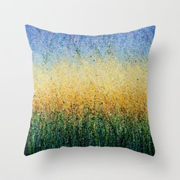 Summer yellow's Throw Pillow