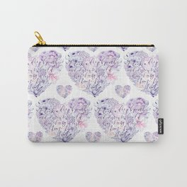 flower heart . sylvia plath quote . the bell jar Carry-All Pouch