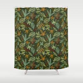 Autumn_green Shower Curtain