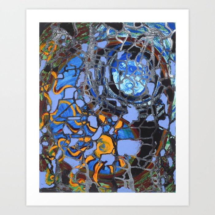 Cosmic Yin Yang Art Print