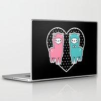 alpaca Laptop & iPad Skins featuring Alpaca Pair by Em & Sprout