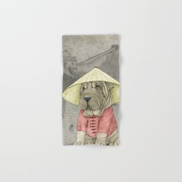 Shar Pei on the Great Wall Hand & Bath Towel