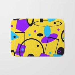 Retro abstract print yellow Bath Mat