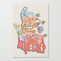 wreck it ralph Canvas Prints featuring ralph by bugtrainer