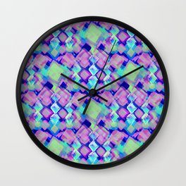 Square Pastel Pink Pattern Wall Clock