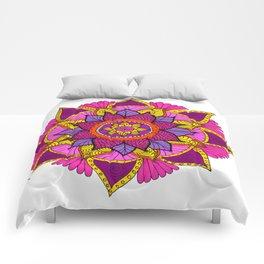 mandala rosa Comforters