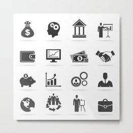 Icon business9 Metal Print