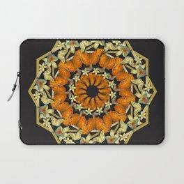 Kaleidoscope of butterflies and flowers Laptop Sleeve