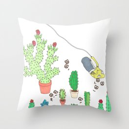 garden snacker III Throw Pillow