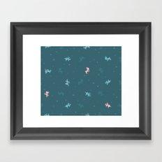 Reindeer Frolic (tiling pattern) Framed Art Print