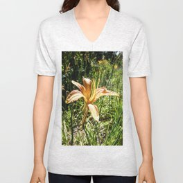 Orange Bloom Unisex V-Neck