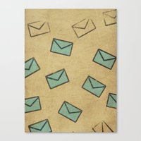 letter Canvas Prints featuring Letter by sinonelineman