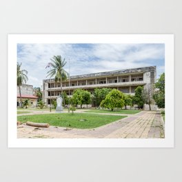S21 Building C - Khmer Rouge, Cambodia Art Print