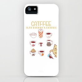 Cafe Espresso Black Americano Coffee Caffeine Cat Morning Person Feline Claw Claws T-shirt Design iPhone Case