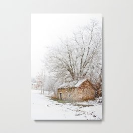 The Old Spring House in Winter Metal Print