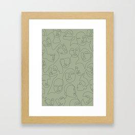 She's Green Framed Art Print