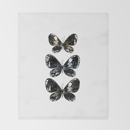 Mottled Moth Throw Blanket
