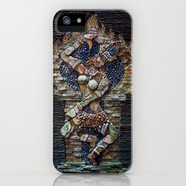 Mosaic Stone Figurine iPhone Case