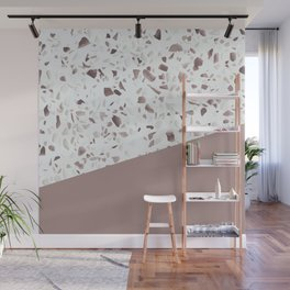 Terrazzo Texture Antique Pink #6 Wall Mural