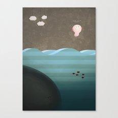 Flight of the Axolotl Canvas Print